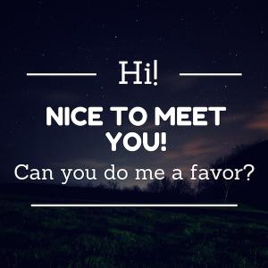 hi nice to meet you!
