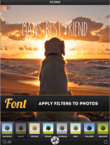Font overlay for photos